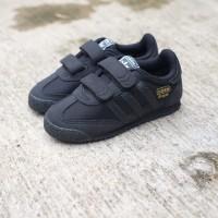 Sepatu Casual Anak Laki Perempuan adidas dragon velcro full black kids