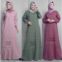 Gamis dewasa + rauna rk 144 + 145 + 146 + dress wanita + baju muslim