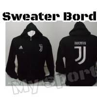 Jaket Sweater Zipper Distro Bordir klub bola juve