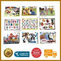 PUZZLE mainan edukasi anak murah karakter gambar GROSIR campur