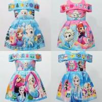 Dress sabrina LED MUSiC Frozen Dress Anak Party Dress Gudang Baju