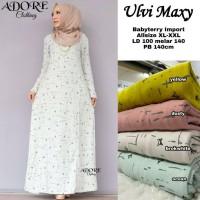 baju ulvi maxy dress kaos muslim wanita simple trendy santai terbaru