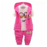 Setelan Anak Perempuan/Baju Anak Cewek/St Minion Pink