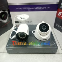 PAKET CCTV 4CH GLENZ 5MP 2 KAMERA INDOOR OUTDOOR 5 MP LENGKAP HDD 1TB