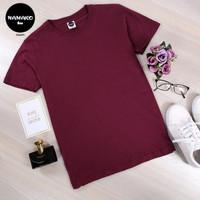 Kaos Polos Premium Namako Tee - Merah Maroon - Katun Oblong Sablon DTG