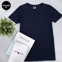 Kaos Polos Premium Namako Tee - Navy Blue - Kaos Oblong DTG - Cotton