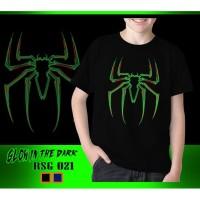 Kaos Anak Laki-Laki Spiderman New Glow in the dark Baju Atasan Rhymes