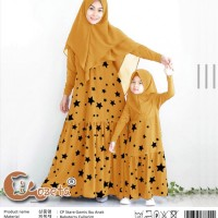 Baju Couple Muslim Cp Stare Gamis Mom Kids 2in1 Mustard Talx.5726