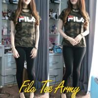 Baju Atasan Wanita Top Blouse Fila Tee Army Tabls.532