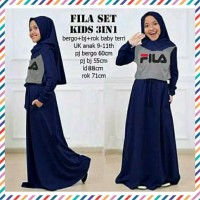 Baju Gamis Anak Perempuan Fila Set Kid 3 In 1