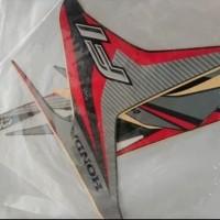 Striping stiker lis motor honda vario 125 fi techno 2014 hitam abu mer