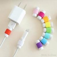 Pelindung Kabel Ipad Iphone Penjepit Ujung Kabel USB Kabel Data Clip