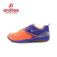Ardiles Men Fleximo Sepatu Badminton - Orange Biru