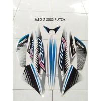 Striping Lis Stiker Motor Yamaha Mio J Sporty 2013 Putih