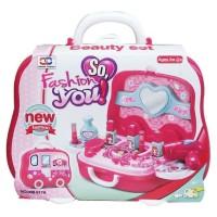 Mainan Anak Perempuan - Beauty Set Fashion You Bus Make up Koper