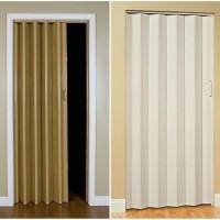 pintu lipat khusus bahan plastik folding gate pvc murah partisi