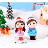 Miniature Lover Figures - Lovers Couple Figurines #16 (2pcs) - couple A