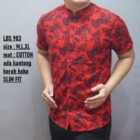 Baju Batik Pria Slim Fit OB148 Imlek edition