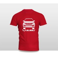 Kaos Baju Pakaian Otomotif Mobil WULING ALMAZ SILUET TAMPAK DEPAN