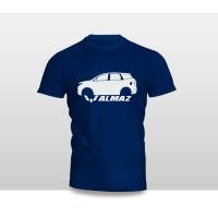 Kaos Baju Pakaian Otomotif Mobil WULING ALMAZ SILUET TAMPAK SAMPING