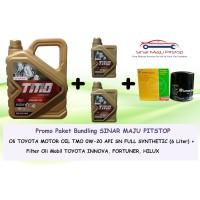 Paket Oli Mobil TMO GOLD 0W-20 (6 LITER) + Filter Oli TOYOTA INNOVA