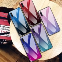 Gradient Glass Case Samsung Galaxy A50 SamsungA50 Back Cover Casing