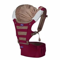 Baby Safe Baby Hip Seat Carrier With Hoodie - Red