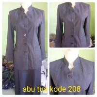baju wanita seragam guru dinas pns kantor warna abu tua stelan rok