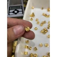 Liontin kalung huruf emas asli kadar 700 70% 18k 22 surabaya A B C D E