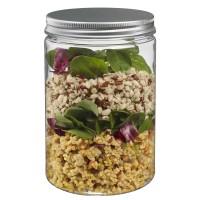 700ml Botol Toples Jar ( kaca ), Tutup ALUMINIUM : Tinggi & Luas