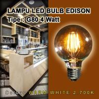 Lampu Bulb LED Filamen Edison Vintage G80 4W / 4 Watt Fitting E27
