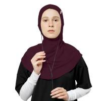 NOORE - Seoulina Earphone Sport hijab - Pakaian Olahraga Wanita