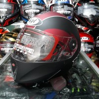 Helm KYT Rocket Red maroon /Black Doff