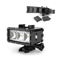 Lampu Sorot LED Anti Air Warna Hitam Silver untuk Kamera GoPro Hero 7