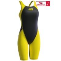 Mad Wave Revolution Women Kneeskin Yellow FINA Approved| Baju Renang