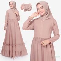 Tazkia Hijab Store | Dress Muslim Wanita | Afia Dress | Gamis Busui