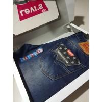 Celana Jeans Pria Levis 501 Original Made in USA Import - Dark Blue