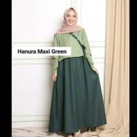 baju gamis wanita terbaru/hanura maxi dress remaja muslim kekinian