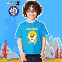 Baju / Kaos Warna Anak / Laki-laki / Perempuan Design Baby Shark