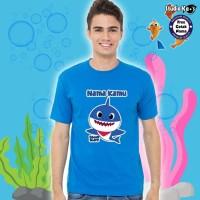 Baju / Kaos Warna Dewasa / Pria / Wanita Design Baby Shark