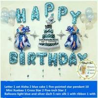 Paket dekorasi ulang tahun tema frozen