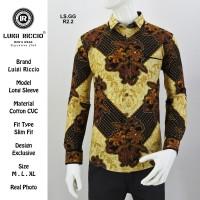 Luigi Riccio Kemeja Batik Fashion Pria Slimfit Ori New Arrival
