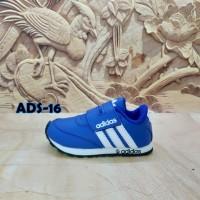 sepatu anak murah Adidas biru garis putih ADS-16