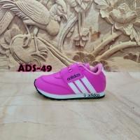 sepatu anak murah ADIDAS pink garis putih ADS-49