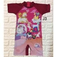 Baju renang anak Cewek karakter UNICORN terbaru ukuran junior Usia 3-5 - M