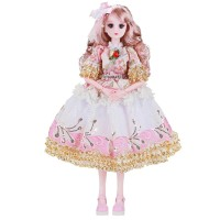 New 60cm BJD Doll with Princess Clothes Accessories Shoes 3D Eyes Mova