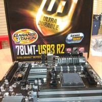 MURAH Motherboard Gigabyte GA-78LMT USB3 Socket AM3 Gar