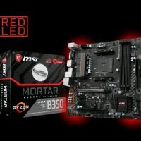 MURAH MSI B350M Mortar AM4 AMD Promontory B350 DDR4 USB