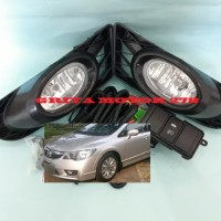 READY Fog Lamp Lampu Kabut Honda Civic FD 2009 2010 2011 Komp