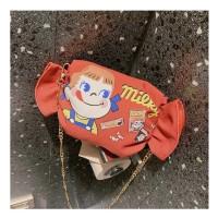 Unik Tas Selempang Sling Bag Travel Bag Kanvas Peko Candy Style Girl